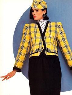 Shoulder Pads - Vogue Magazine - January/February 1986.