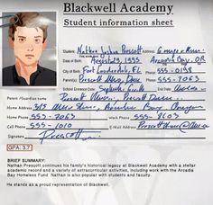 Life is Strange - Nathan Prescott ( Black well Academy)