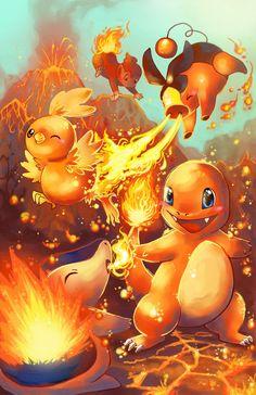 Cuando tenemos que elegir a nuestro primer amigo tipo fuego #Pokemon