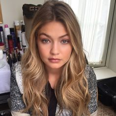 """""""It always nice to have this one in my chair @gigihadid ❤️❤️"""" Photo taken by @harryjoshhair on Instagram, pinned via the InstaPin iOS App! http://www.instapinapp.com (06/18/2015)"""