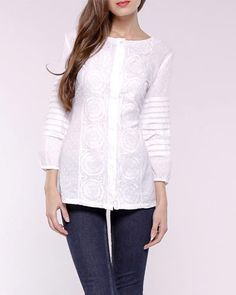 Almatrichi Layered Sleeves & Sheer Printed Blouse Made In Spain at Modnique.com