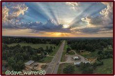 Blount County Sunset, Alabama 6/16/15.  Photographer credit: @dave_warren80.
