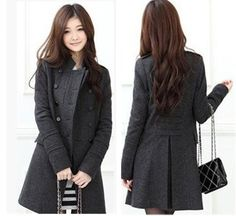 NEW excellent quality, fashion double-breasted, elegant sweet ladies winter coat (actual pockets)(China (Mainland)) #HappyBirthdayBrastop