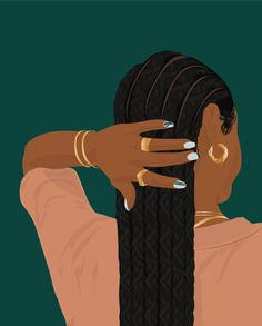 Black Girl Art, Black Women Art, Art Girl, Black Girl Aesthetic, Aesthetic Art, Illustration Art, Illustrations, Afro Art, Dope Art