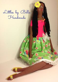 Giant tilda   doll fabric doll african doll Brazil doll handmade doll giant size doll human figure doll Littles by Bella dolls doll