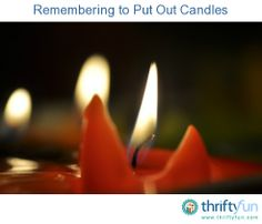 This is a guide about remembering to put out candles. Unattended candles are a serious hazard and are responsible for many house fires.