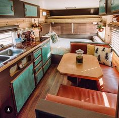 Camper Makeover, Vintage Travel Trailers, Remodeled Campers, Tiny Spaces, Tiny House Living, Camper Trailers, Open Up, First Home, Van Life