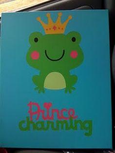 cute frog canvas art