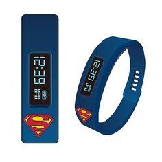 Superman Fitness Tracker LED Watch