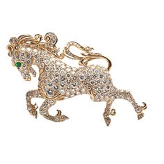 1stdibs - 20.00cts French Laykin Diamond Gold Horse Brooch explore items from 1,700  global dealers at 1stdibs.com