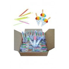 Perfect Stix Snow Cone Cup Kit - Snow Cone Kit with 50 Cups, 50 Neon Straws and 50 Snow Cone Candy Spoons (Pack of Snow Cone kit includes 50 cups, 50 Neon straws, and 54 snow cone candy spoons. Great for Birthday Parties. Craft Stick Crafts, Crafts For Kids, Arts And Crafts, Craft Sticks, Hawaiian Shaved Ice, Backyard Carnival, Spoon Craft, Candy Brands, Snow Cones