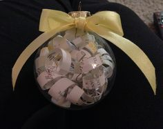 First Christmas Married Ornament--with our wedding program inside!
