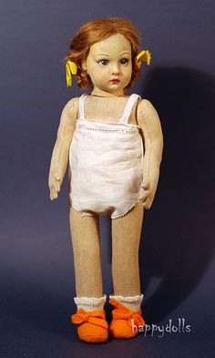 Italy. Felt doll the antique Lenci Doll ~