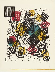 Vasily Kandinsky (French, born Russia. 1866–1944)  Small Worlds V (Kleine Welten VI) from Small Worlds (Kleine Welten)  Date:1922 Medium:Lithograph (transferred from woodcut) from a portfolio of twelve prints, six lithographs (including two transferred from woodcuts), four drypoints, and two woodcuts