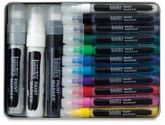 Liquitex paint marker tin