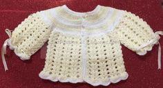 Handmade Crochet Jacket for new born by CrochetPassion on Ribbonat