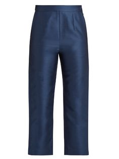 ISA ARFEN Cotton and silk-blend twill cropped trousers. #isaarfen #cloth #trousers