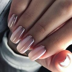 33 Pretty manicure that you can easily do - pink and glitter nail art design #naildesign #nailart #nails