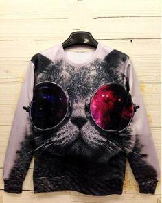 14 euro incl. shipping   Aliexpress.com : Buy SALE!! Fashion Women/Men print panda/cat/tiger Pullovers animal 3D Sweaters long sleeve galaxy sweatshirt hoodies top p...