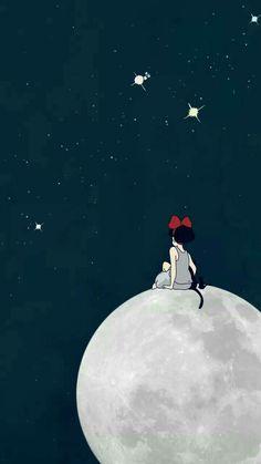 Wall Paper Phone Anime Studio Ghibli Ideas For 2020 Totoro, Movie Wallpapers, Cute Wallpapers, Wallpaper Backgrounds, Fake Wallpaper, Iphone Backgrounds, Iphone Wallpapers, Studio Ghibli Art, Studio Ghibli Movies