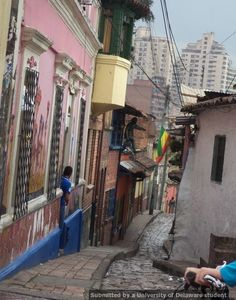 Plastino Scholar Marcela Omans navigated through the tiny streets of downtown Bogota during a summer she'll never forget. 2014 Plastino Scholars interest meetings are Oct. 29 and Nov.6.