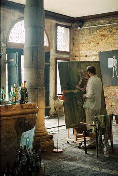 Un atelier d'artiste de Vénétie