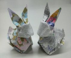 千代紙でお札うさぎ Origami And Kirigami, Paper Crafts Origami, Origami Art, Diy Paper, Origami Ideas, Gift Wraping, Traditional Japanese Art, Origami Animals, Paper Folding