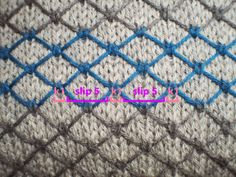 Great slip stitch pattern ... Chainlink Cushion free pattern by Dayana Knits.