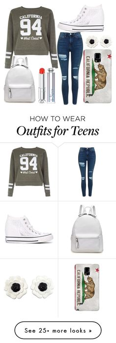 """""""Untitled #510"""" by lakebaleonard on Polyvore featuring Topshop, New Look, Converse, Chanel and Christian Dior"""