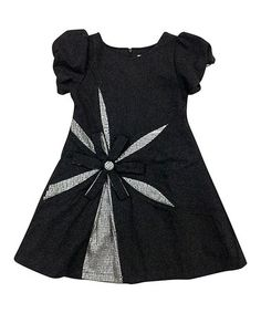 Gray Ella Wool-Blend Puff-Sleeve Dress - Girls by Mini Treasure Kids #zulily #zulilyfinds