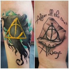 """Pin for Later: Harry Potter Quote Tattoos That Prove Your Love of the Wizarding World  """"After all this time?"""" """"Always."""""""
