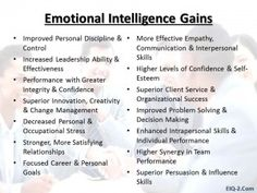 What can you expect from increasing your emotional intelligence...