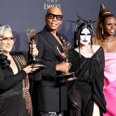 RuPaul's trophy case grew to historic proportions after the 2021 Emmy Awards. With RuPaul's Drag Race nabbing the prize for Outstanding Competition Program at the annual ceremony... The Hollywood Reporter, Hollywood Glamour, Glamour Photo, Rupaul Drag, Amazing Race, Black Artists, Product Launch, Actors, History