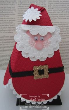 Petal Cone Santa and the new Petite Curly Label Punch belt buckle