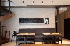 #LarsLarsLars #neon #fish #chalkboard #bricks #stairs #restaurant #scandi