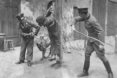 Punishment Beatings. The crude SS runes raise questions. Were they ad hoc uniforms used by nazi sympathisers?