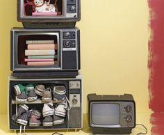 #reciclar #reciclaje usa televisiones viejas como repisas