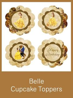 Vintage Belle Cupcake Toppers - FREE PDF Download