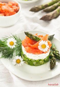 Spargel-Salat kann man für´s Buffet wunderbar vorbereiten