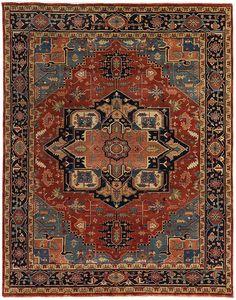 Exquisite Rugs Rosso Fine Serapi Rug, 6 x 9 Teal Carpet, Diy Carpet, Carpet Colors, Carpet Ideas, 8x10 Area Rugs, Blue Area Rugs, Persian Carpet, Persian Rug, Rug Studio