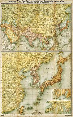 JAPAN Old Map Of Japan In Original Large English Antique - Japan map 1920