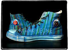 New!!!Custom Converse All-Star By Mark Leone ® Βρες το αγαπημένο σου σχέδιο τώρα! Για παραγγελίες ,η για οποιαδήποτε άλλη πληροφορία στείλτε μήνυμα στη σελίδα μας. Διαθέσιμο σε όλα τα χρώματα,και σε όλα τα νούμερα! Available in any size & any colour! For more details ,orders or further information about our creations please send us an inbox message Custom Converse, Converse All Star, High Tops, High Top Sneakers, Stars, Fashion, Moda, Fasion, Star