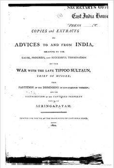 European Inhabitants of Bombay, Madras and Calcutta 1799