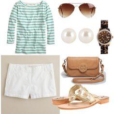 preppy springtime outfit