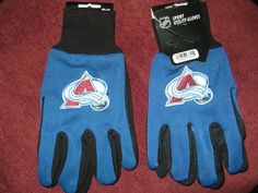 TWO (2) PAIRS OF COLORADO AVALANCHE , ALL PURPOSE SPORT UTILITY GLOVES #AmericanLogo #ColoradoAvalanche