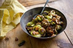 Here, wild mushrooms and brussels sprouts get crisp and golden in the oven while brandy-glazed chestnuts add a touch of sweetness You can make the shallot-chestnut mixture the day before and refrigerate it in an airtight container Sprinkle it evenly over the roasting vegetables during the last 5 minutes of cooking to warm it through.