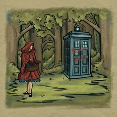 Dr. who Disney crossover fan art