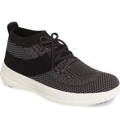 FitFlop Uberknit High Top | 1000s of comfortable women's shoes reviewed at  www.BarkingDogShoes.