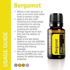 doTerra Bergamot Essential Oil Usage Guide by sabrina More