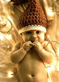 MY santa baby :) #Christmas #baby #Lights #pictures